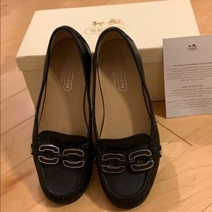 Black Coach loafers size 5